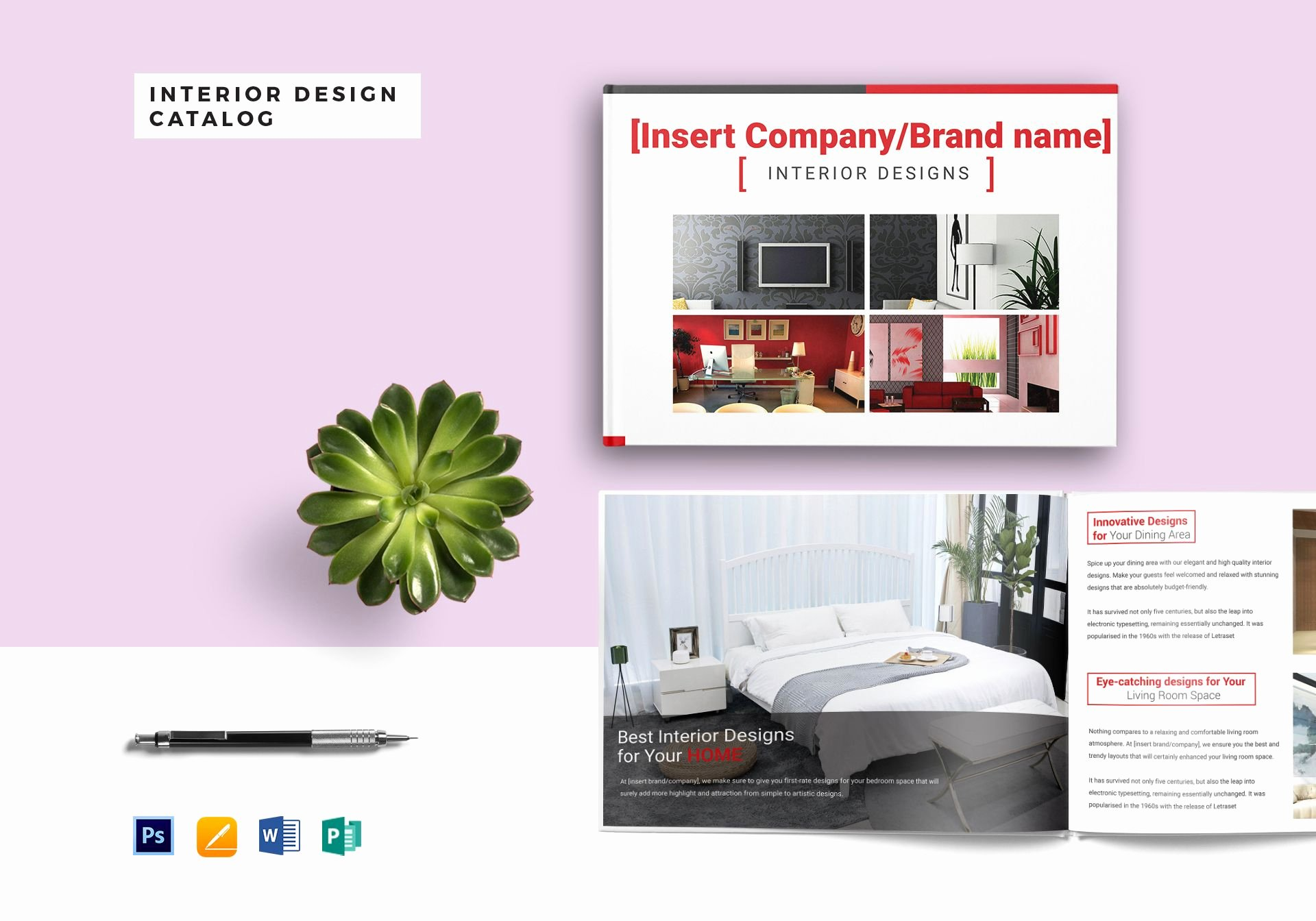 Ms Publisher Catalog Template Awesome Interior Design Catalog Template In Psd Word Publisher