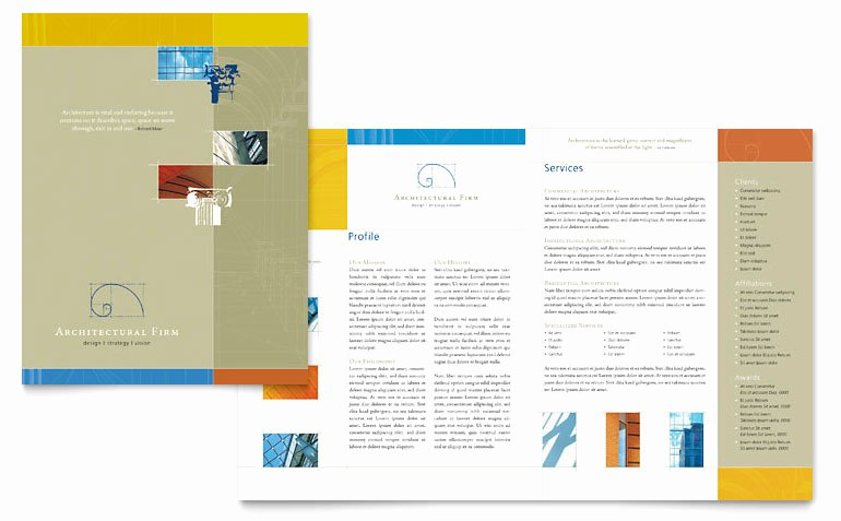 Ms Publisher Catalog Template Best Of Architectural Firm Brochure Template Word & Publisher
