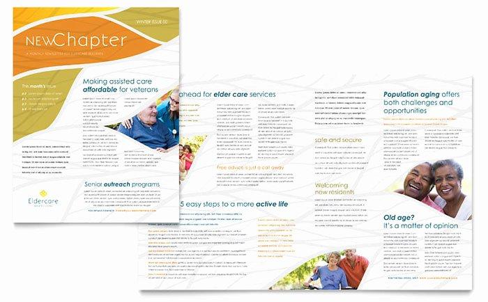 Ms Publisher Catalog Template Elegant assisted Living Newsletter Template Design