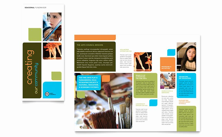 Ms Publisher Catalog Template Inspirational Arts Council & Education Brochure Template Word & Publisher