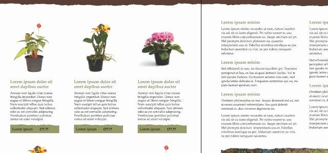 Ms Publisher Catalog Template Lovely Catalog Gardening • istudio Publisher • Page Layout