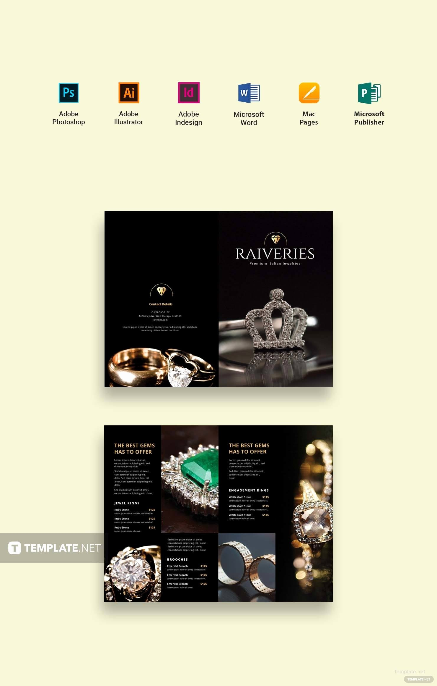 Ms Publisher Catalog Template Lovely Free Jewelry Catalog Template In Adobe Shop
