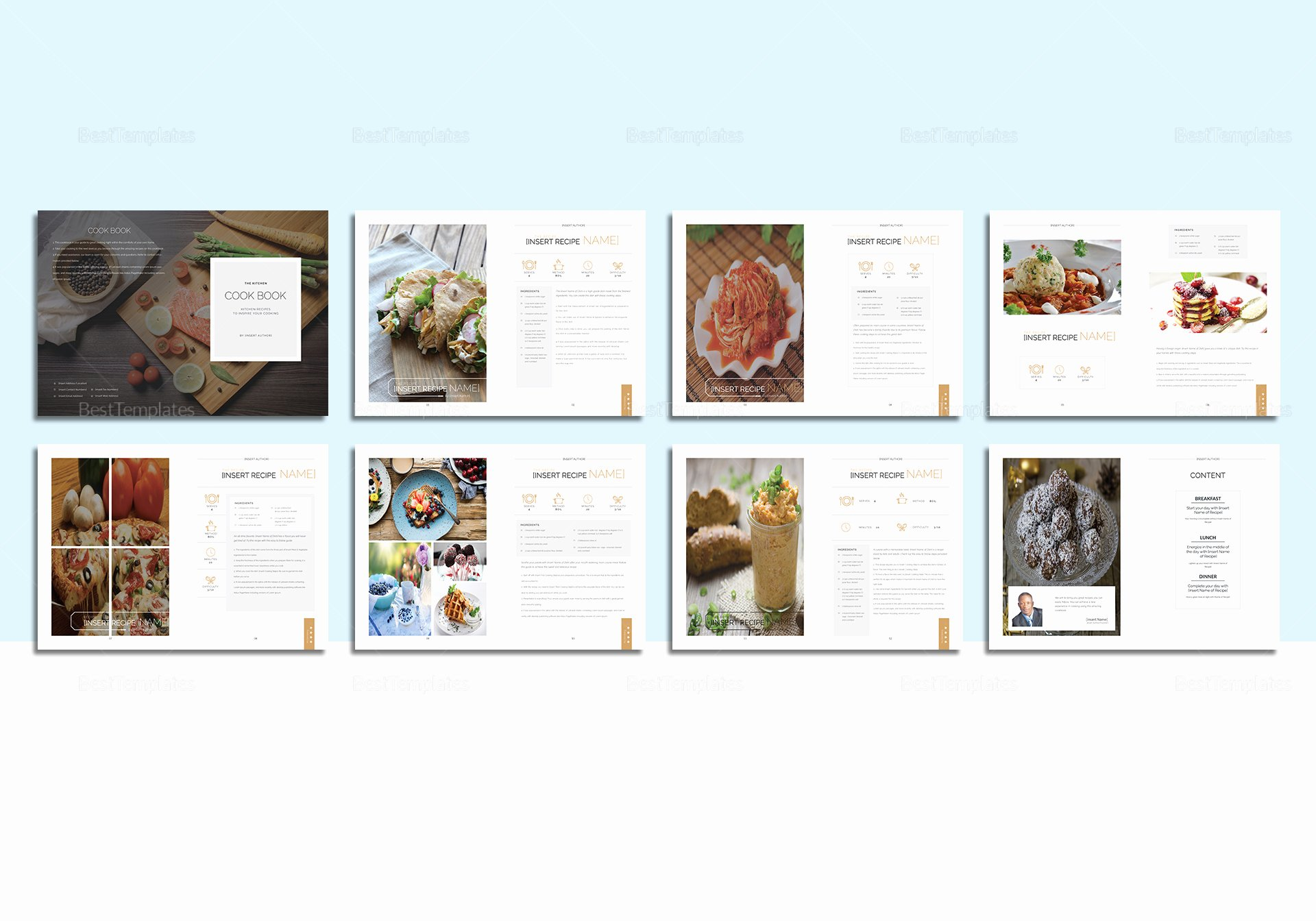 Ms Publisher Catalog Template New Recipe Cookbook Catalog Template In Psd Word Publisher