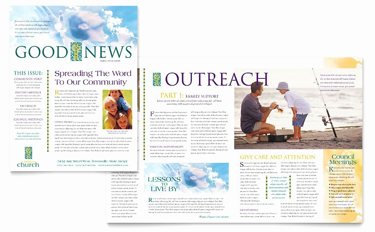 Ms Publisher Newsletter Template Awesome Christian Church Newsletter Template Word & Publisher