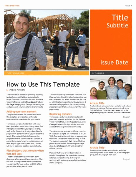 Ms Publisher Newsletter Template Best Of Newsletter