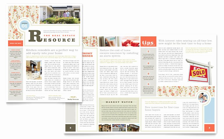 Ms Publisher Newsletter Template Best Of Real Estate Home for Sale Newsletter Template Word