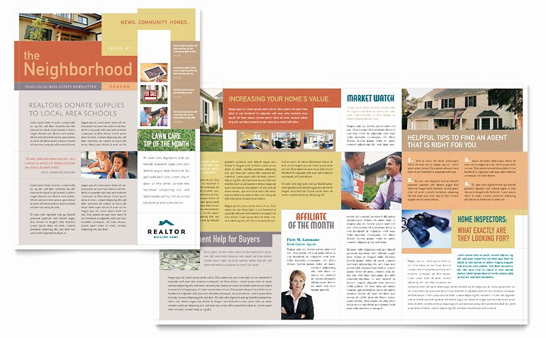 Ms Publisher Newsletter Template Best Of Realtor & Real Estate Agency Newsletter Template Word