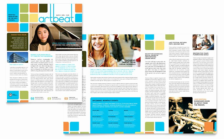 Ms Publisher Newsletter Template Elegant Arts Council & Education Newsletter Template Word