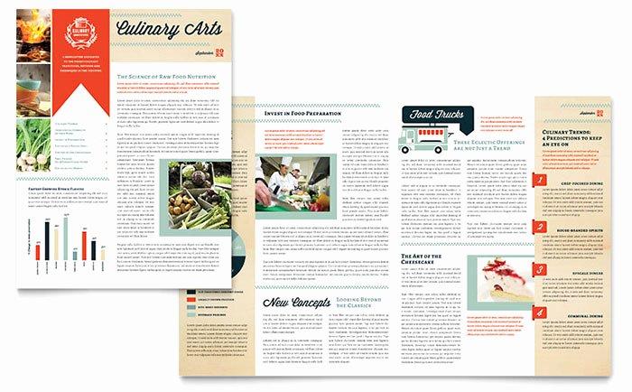 Ms Publisher Newsletter Template Elegant Culinary School Newsletter Template Word & Publisher