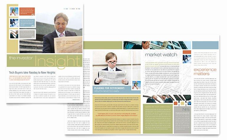 Ms Publisher Newsletter Template Elegant Investment Advisor Newsletter Template Word & Publisher