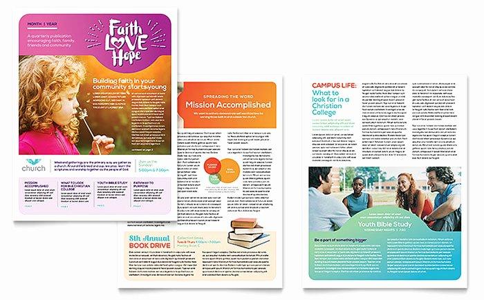 Ms Publisher Newsletter Template Fresh Church Newsletter Template Word & Publisher
