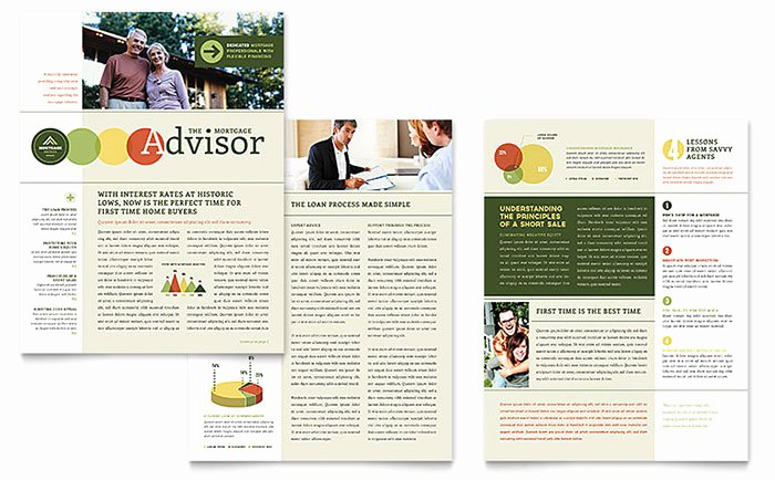 Ms Publisher Newsletter Template Luxury Mortgage Broker Newsletter Template Word & Publisher