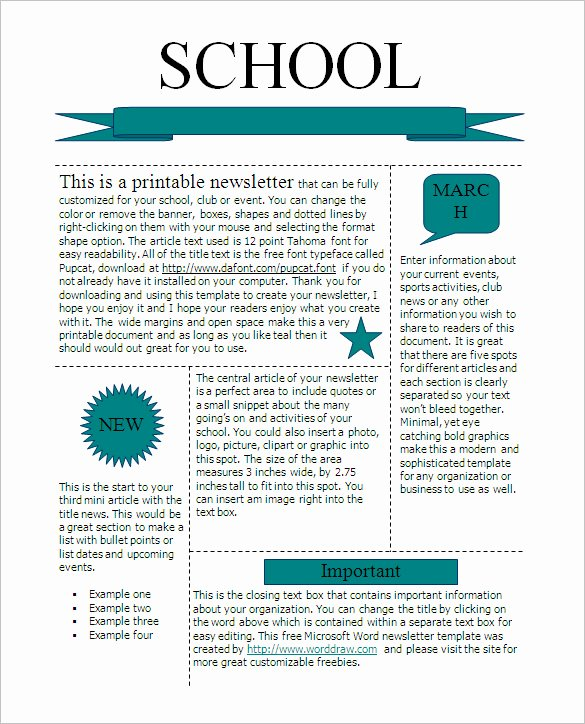 Ms Publisher Newsletter Template New 22 Microsoft Newsletter Templates Free Word Publisher