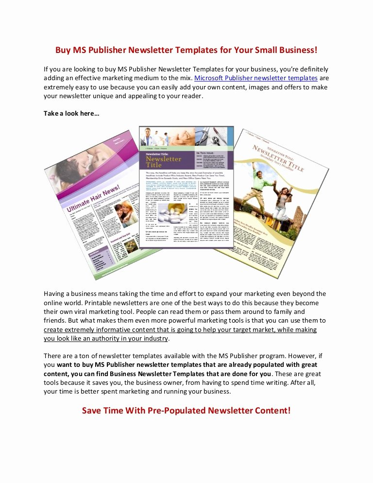 Ms Publisher Newsletter Template Unique Buy Ms Publisher Newsletter Templates