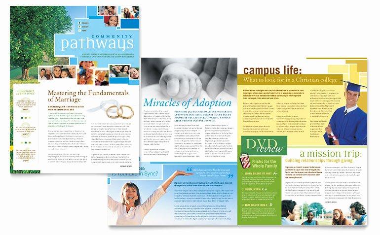 Ms Publisher Newsletter Template Unique Munity Church Newsletter Template Word & Publisher
