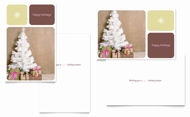 Ms Publisher Postcard Template Awesome Contemporary Christmas Greeting Card Template Word