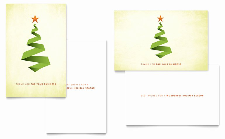 Ms Publisher Postcard Template Beautiful Ribbon Tree Greeting Card Template Word & Publisher