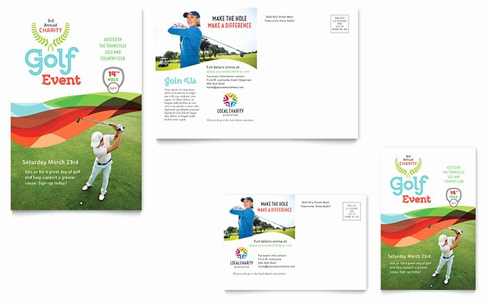 Ms Publisher Postcard Template Best Of Charity Golf event Postcard Template Word & Publisher