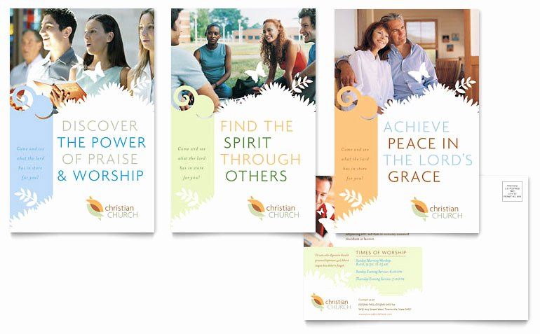 Ms Publisher Postcard Template Elegant Christian Church Postcard Template Word & Publisher
