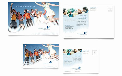 Ms Publisher Postcard Template Elegant Christian Ministry Tri Fold Brochure Template Word