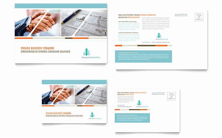 Ms Publisher Postcard Template Elegant Management Consulting Postcard Template Word & Publisher