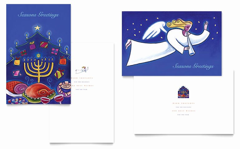 Ms Publisher Postcard Template Fresh Holiday Seasons Menorah Greeting Card Template Word