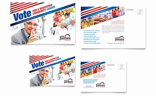 Ms Publisher Postcard Template Fresh Political Campaign Business Card & Letterhead Template