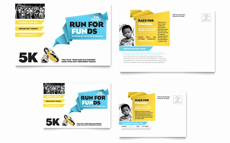 Ms Publisher Postcard Template Inspirational Charity Run Postcard Template Word & Publisher