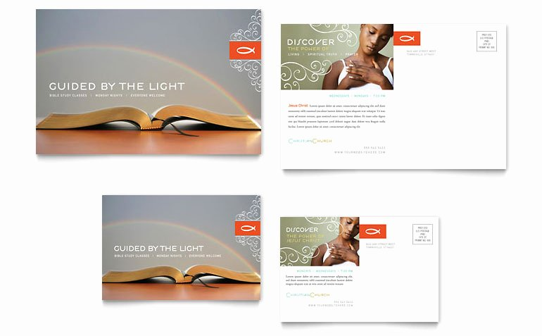 Ms Publisher Postcard Template Inspirational Christian Church Religious Postcard Template Word