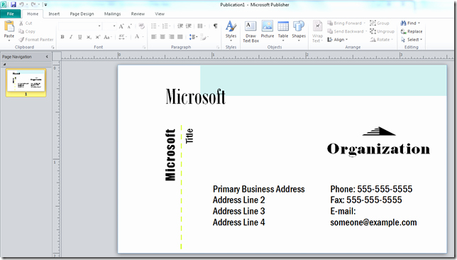 Ms Publisher Postcard Template Inspirational How to Make A Business Card with Microsoft Publisher