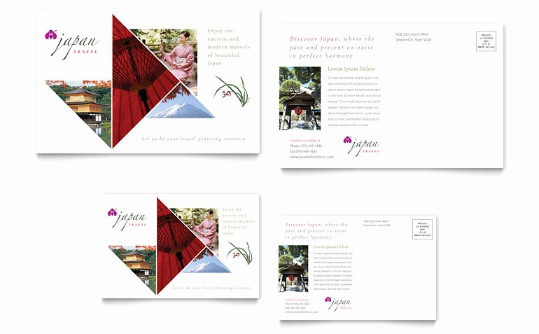 Ms Publisher Postcard Template Inspirational Japan Travel Postcard Template Word & Publisher