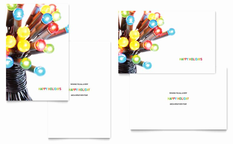 Ms Publisher Postcard Template New Christmas Lights Greeting Card Template Word & Publisher