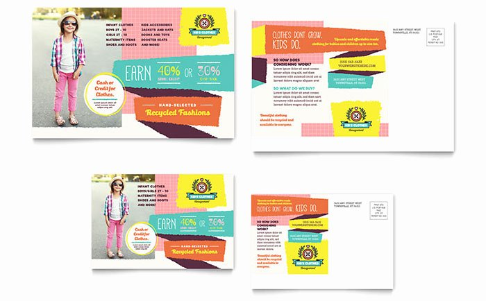 Ms Publisher Postcard Template New Kids Consignment Shop Postcard Template Word & Publisher