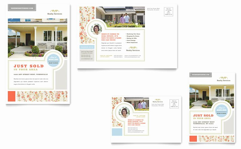 Ms Publisher Postcard Template New Real Estate Home for Sale Postcard Template Word & Publisher