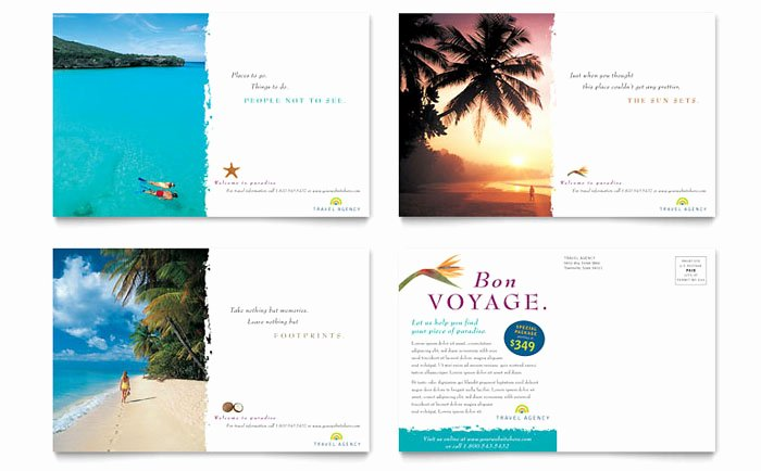 Ms Publisher Postcard Template New Travel Agency Postcard Template Design