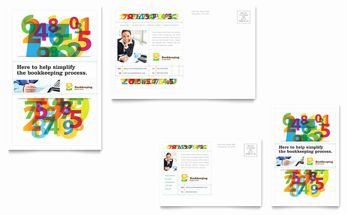 Ms Publisher Postcard Template Unique Bookkeeping Services Postcard Template Design