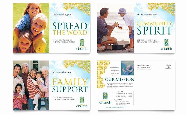 Ms Publisher Postcard Template Unique Christian Church Postcard Template Word & Publisher