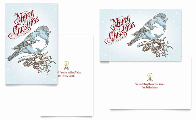 Ms Publisher Postcard Template Unique Vintage Bird Greeting Card Template Word & Publisher