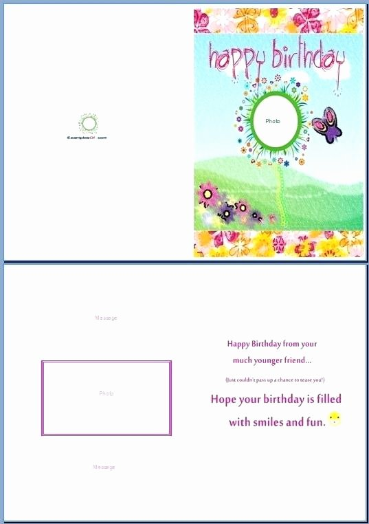 Ms Word Birthday Card Template Awesome Birthday Card Template Word Printable Blank Greeting Cards