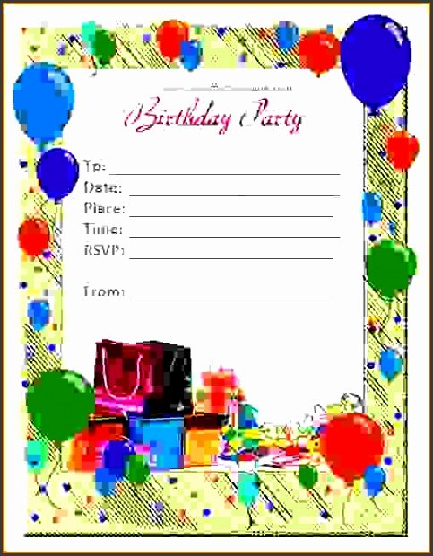 Ms Word Birthday Card Template Beautiful 6 Ms Word Birthday Card Template Sampletemplatess