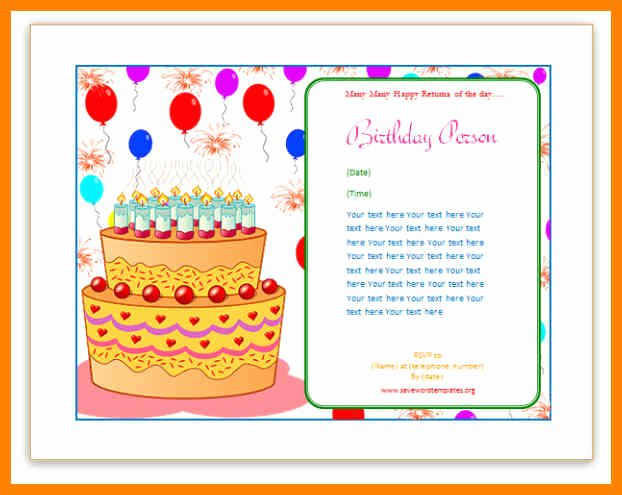 Ms Word Birthday Card Template Best Of Birthday Card Publisher Template Choice Image Template