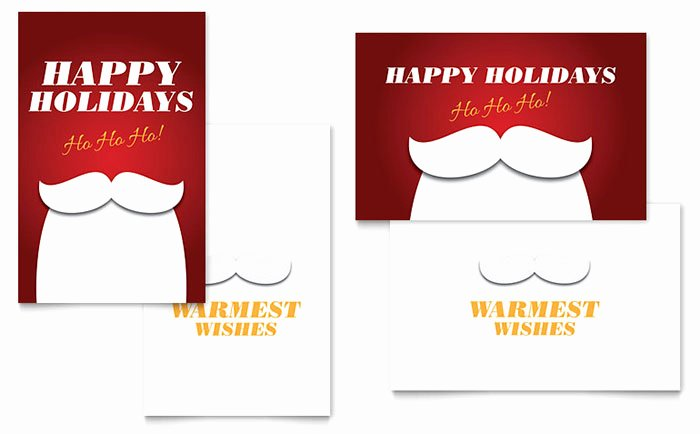 Ms Word Birthday Card Template Best Of Ho Ho Ho Greeting Card Template Word & Publisher