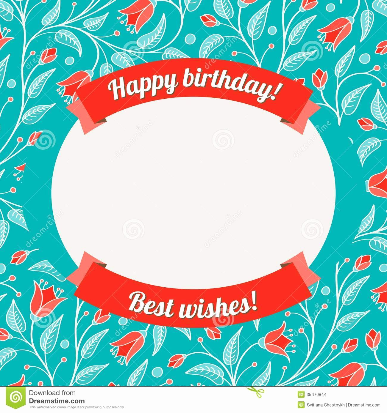 Ms Word Birthday Card Template Inspirational Card Birthday Card Template
