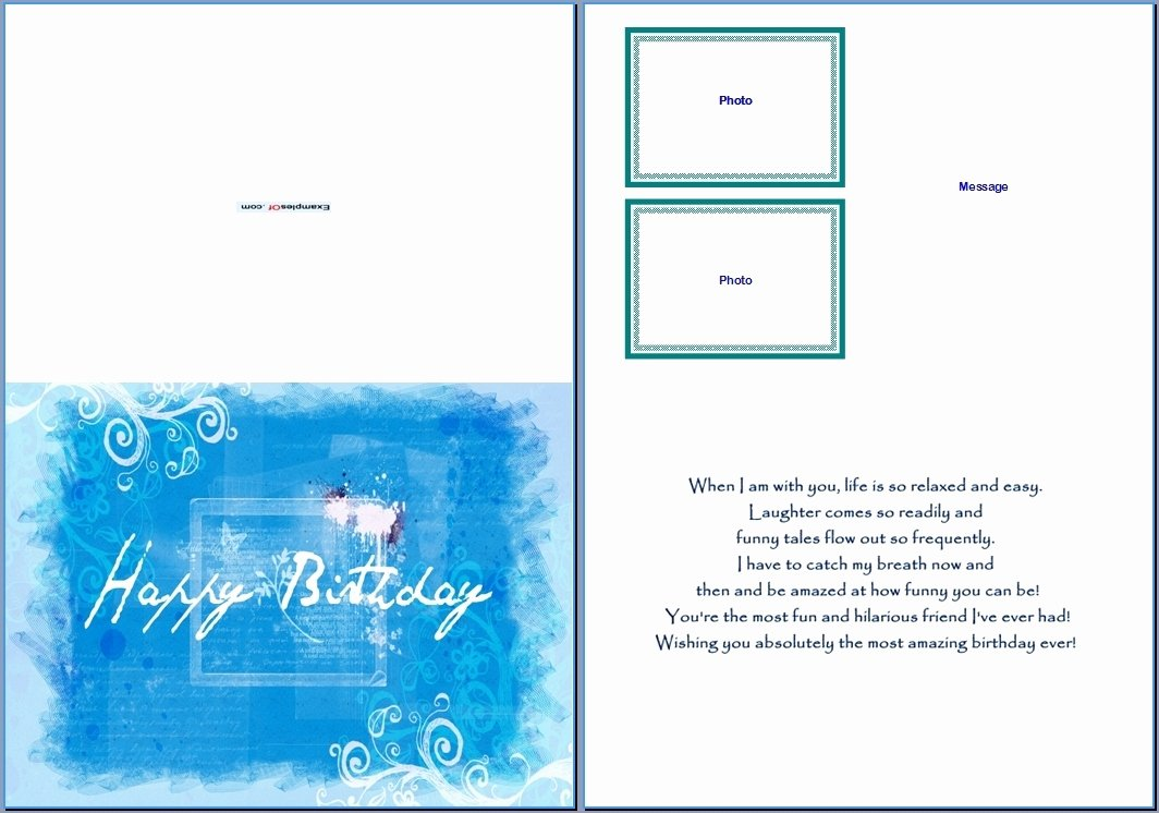 Ms Word Birthday Card Template Inspirational Greeting Card Template Word Beepmunk