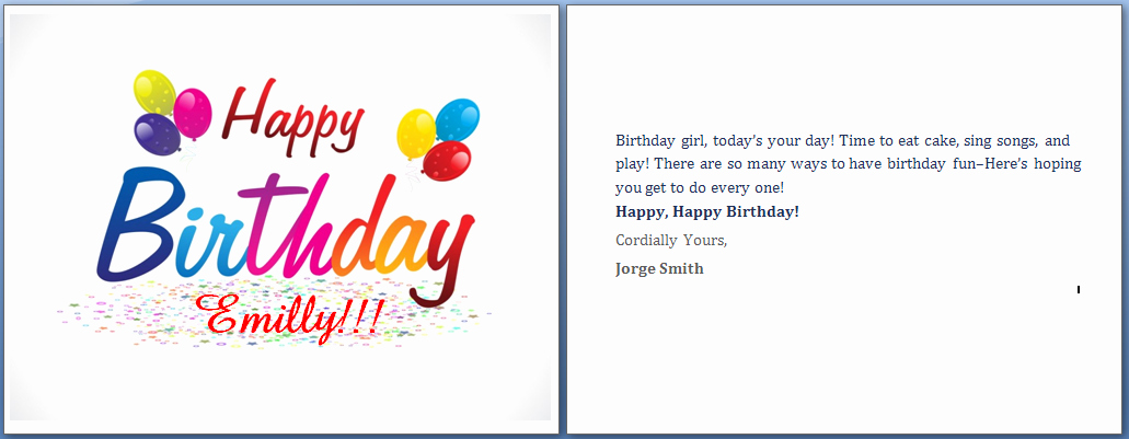 Ms Word Birthday Card Template Inspirational Ms Word Happy Birthday Cards Word Templates