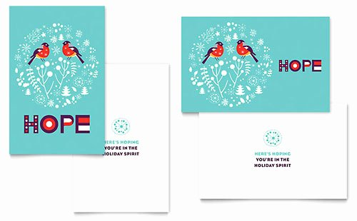 Ms Word Birthday Card Template Luxury Ho Ho Ho Greeting Card Template Word & Publisher