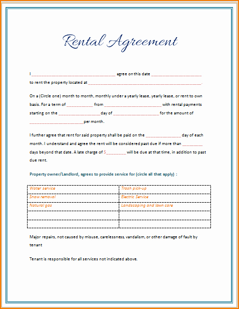 Ms Word Contract Template Elegant 5 Rental Lease Agreement Template Word