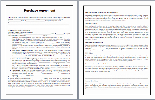 Ms Word Contract Template Inspirational Purchase Contract Template Microsoft Word Templates