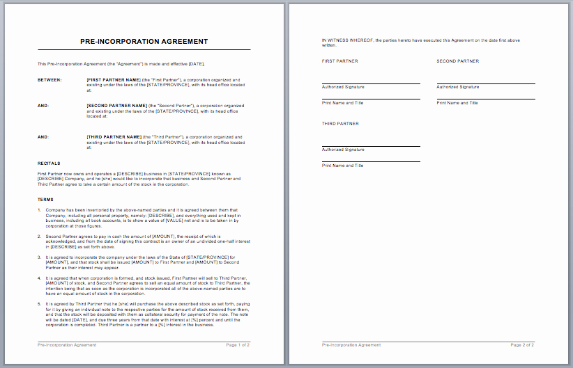 Ms Word Contract Template Luxury Contract Templates – Microsoft Word Templates