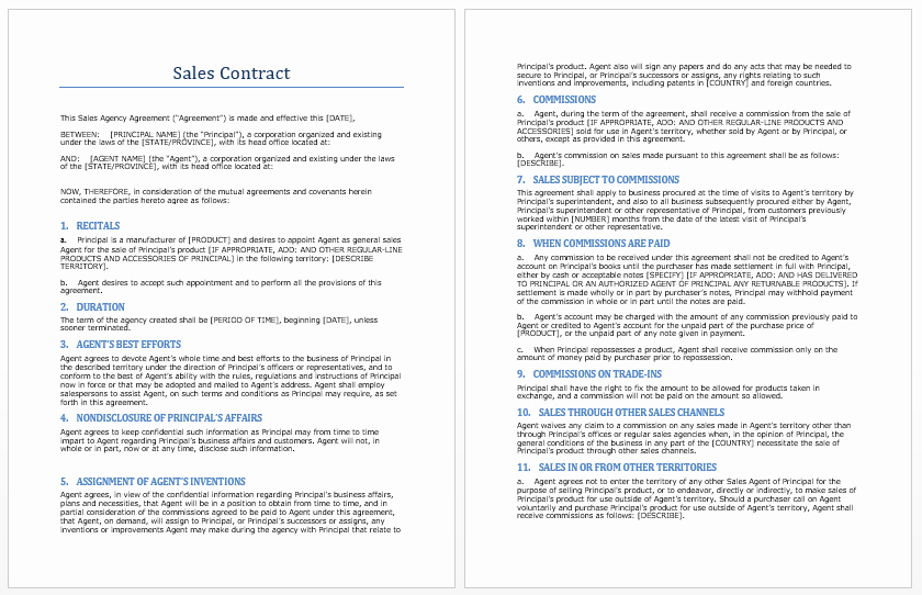 Ms Word Contract Template Luxury Sales Contract Template Microsoft Word Templates